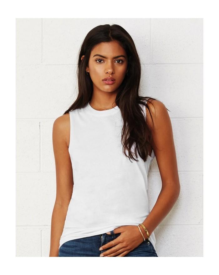 Débardeur Top Unisexe Jersey Musculation - Tee-shirt Personnalisé avec marquage broderie, flocage ou impression. Grossiste ve...
