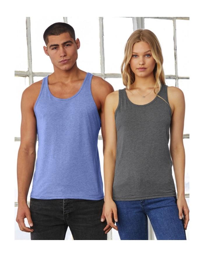 Débardeur Unisexe Jersey - Tee shirt Personnalisé avec marquage broderie, flocage ou impression. Grossiste vetements vierge à...