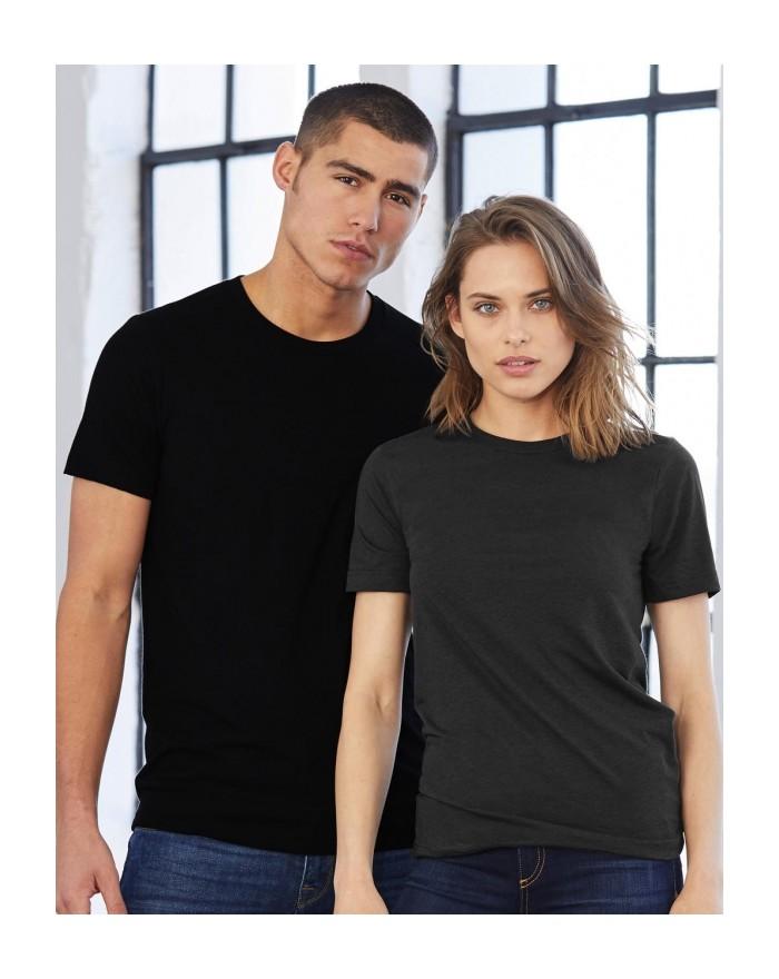 T-Shirt Unisexe Triblend Ras de Cou - Tee shirt Personnalisé avec marquage broderie, flocage ou impression. Grossiste vetemen...