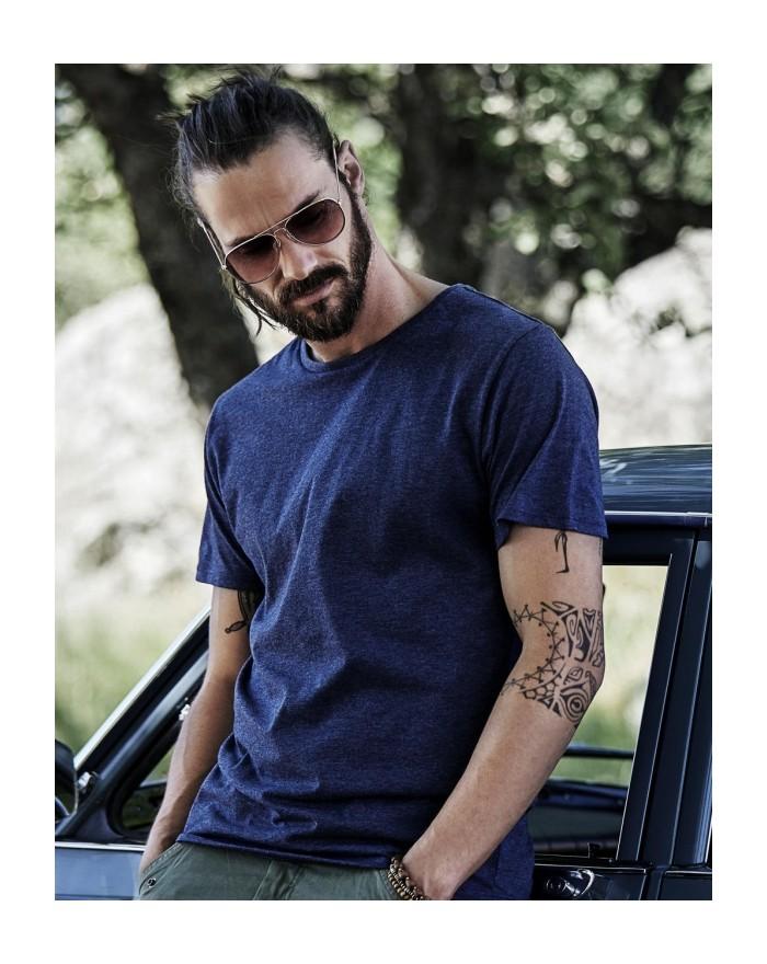 T-Shirt Urban Mélangé - Tee-shirt Personnalisé avec marquage broderie, flocage ou impression. Grossiste vetements vierge à pe...