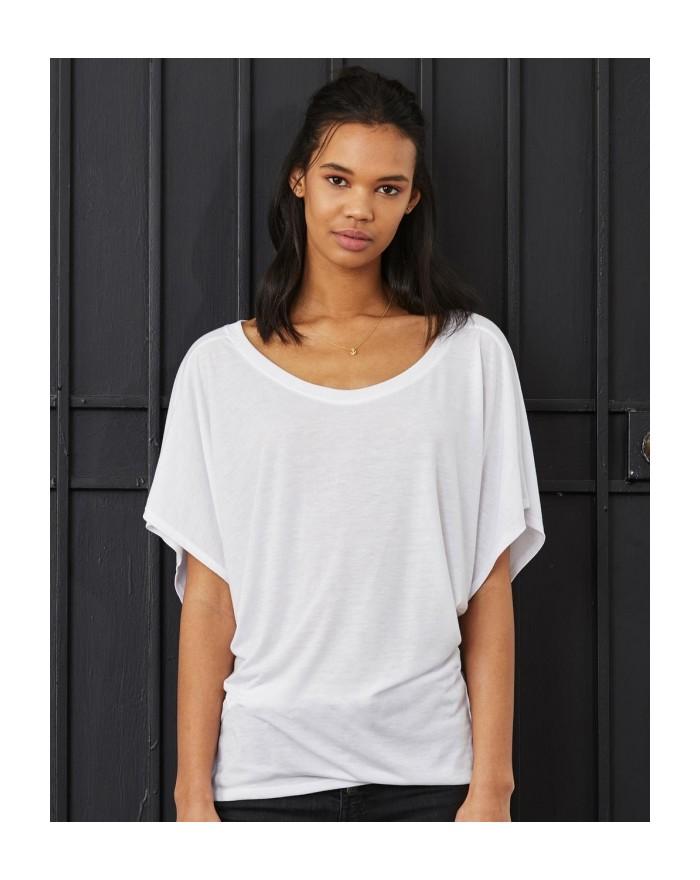 T-shirt manches Drap viscose - Tee-shirt Personnalisé avec marquage broderie, flocage ou impression. Grossiste vetements vier...