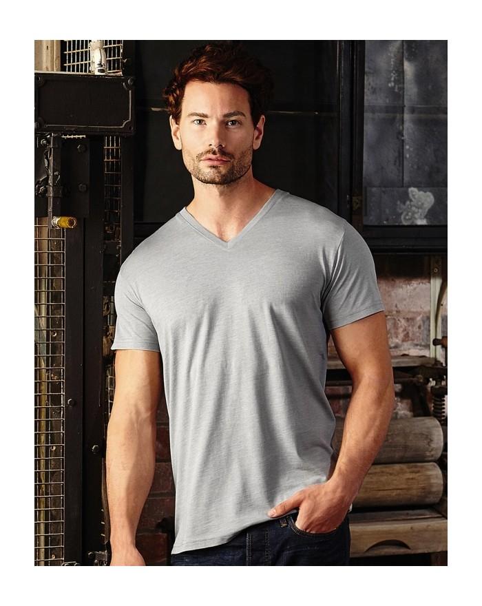 T-shirt Homme Col-V HD polycoton - Tee-shirt Personnalisé avec marquage broderie, flocage ou impression. Grossiste vetements ...