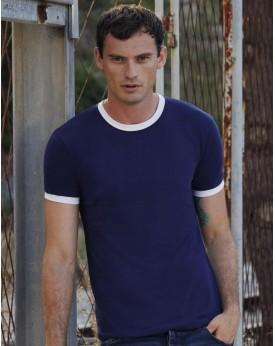 T-Shirt Ringer T - Tee-shirt Personnalisé avec marquage broderie, flocage ou impression. Grossiste vetements vierge à personn...