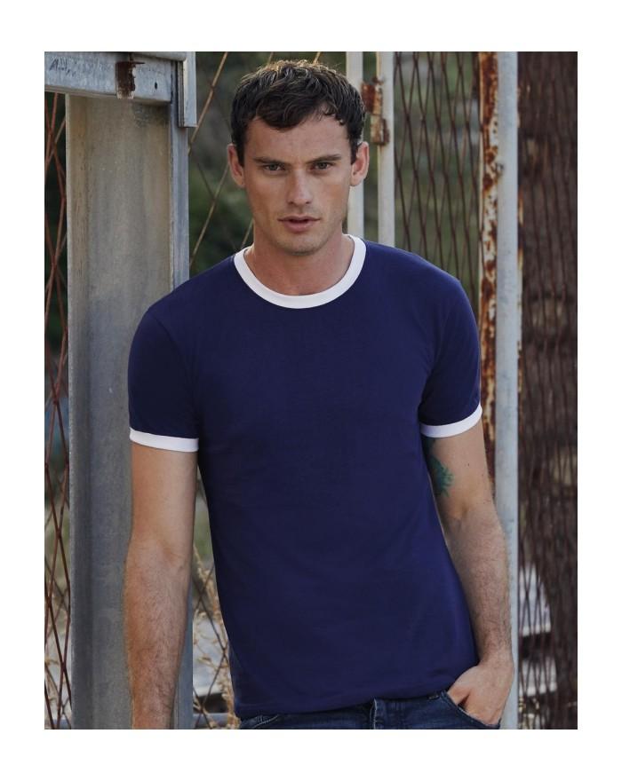 T-Shirt Ringer T - Tee shirt Personnalisé avec marquage broderie, flocage ou impression. Grossiste vetements vierge à personn...