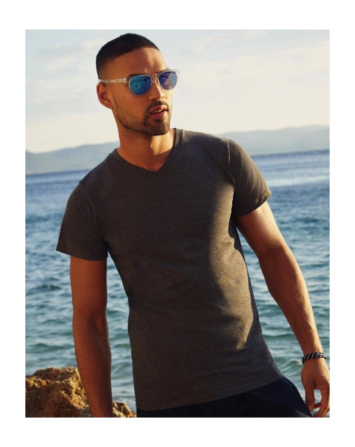 T-shirt Col V Valueweight - Tee-shirt Personnalisé avec marquage broderie, flocage ou impression. Grossiste vetements vierge ...
