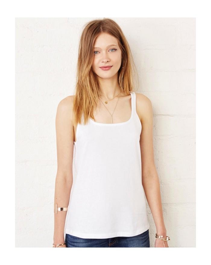 Débardeur Femme Relax Jersey - Tee-shirt Personnalisé avec marquage broderie, flocage ou impression. Grossiste vetements vier...