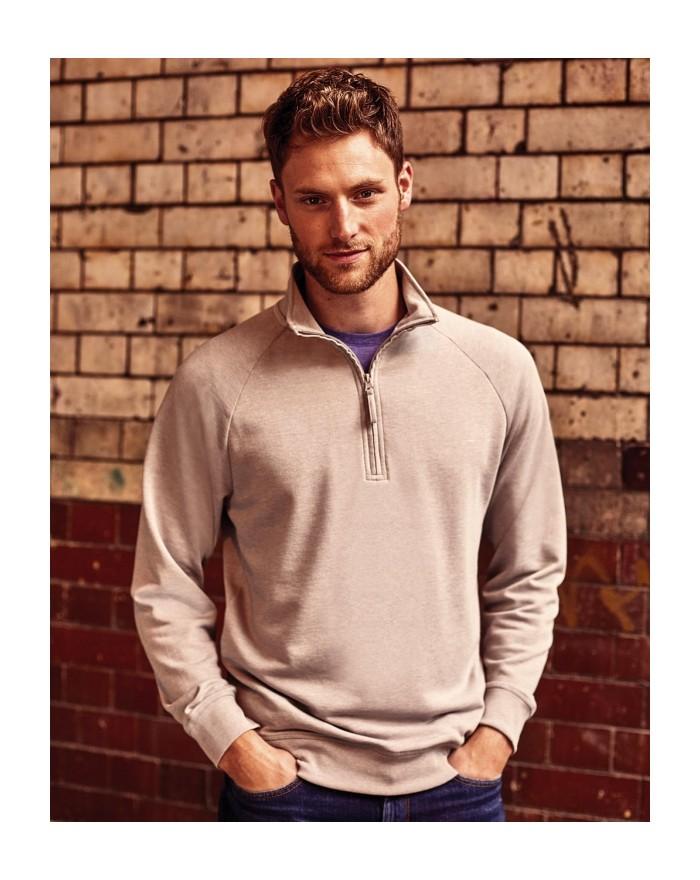 Sweat Homme HD 1/4 Zip - Sweat Personnalisé avec marquage broderie, flocage ou impression. Grossiste vetements vierge à perso...