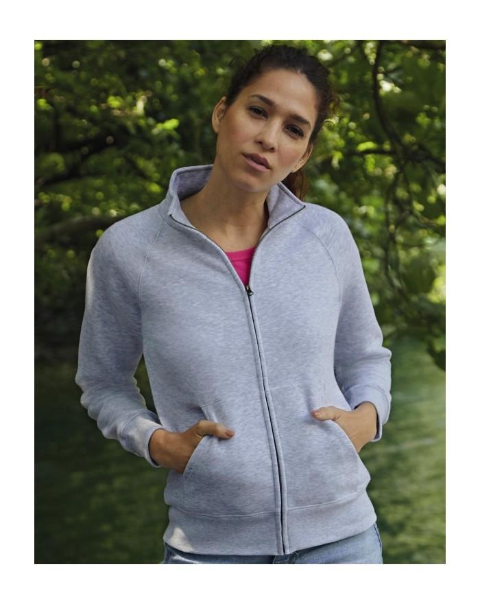 Veste Sweat Femme Premium - Sweat Personnalisé avec marquage broderie, flocage ou impression. Grossiste vetements vierge à pe...