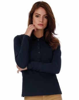 Polo Femme Safran Pure LSL - Polo Personnalisé avec marquage broderie, flocage ou impression. Grossiste vetements vierge à pe...
