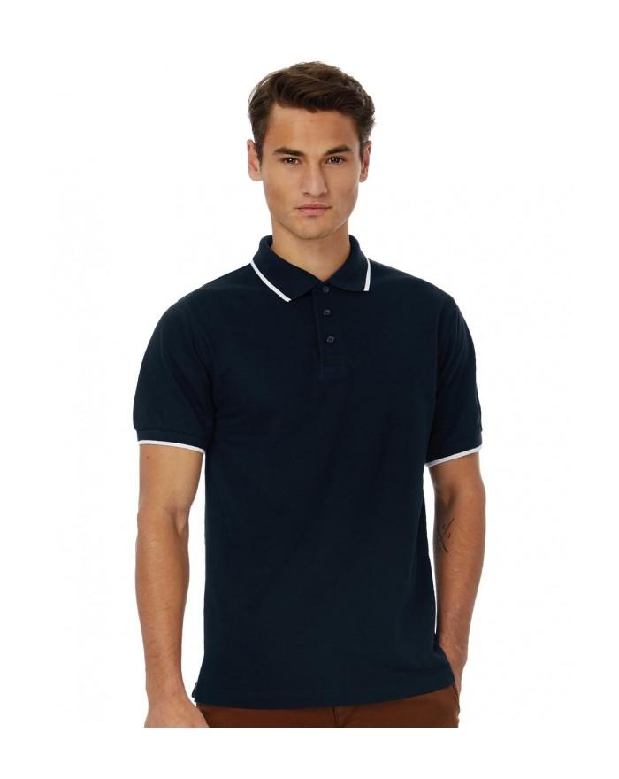 Polo Safran Sport col et manches contrastés - Polo Personnalisé avec marquage broderie, flocage ou impression. Grossiste vete...