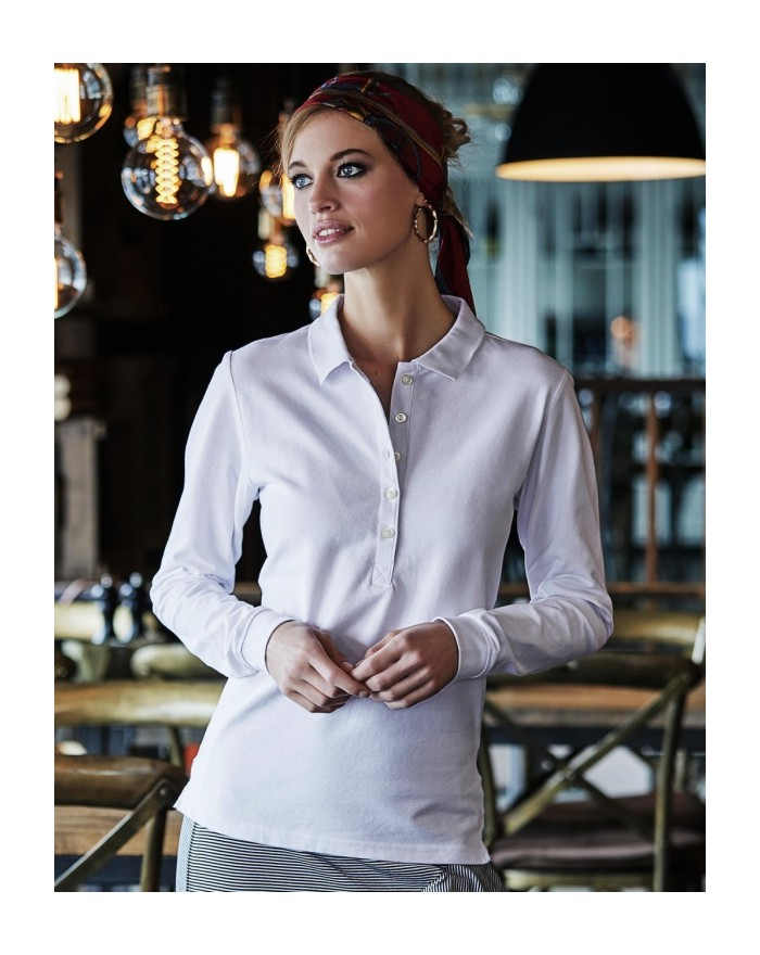 Polo Femme Luxury LS Stretch - Polo Personnalisé avec marquage broderie, flocage ou impression. Grossiste vetements vierge à ...