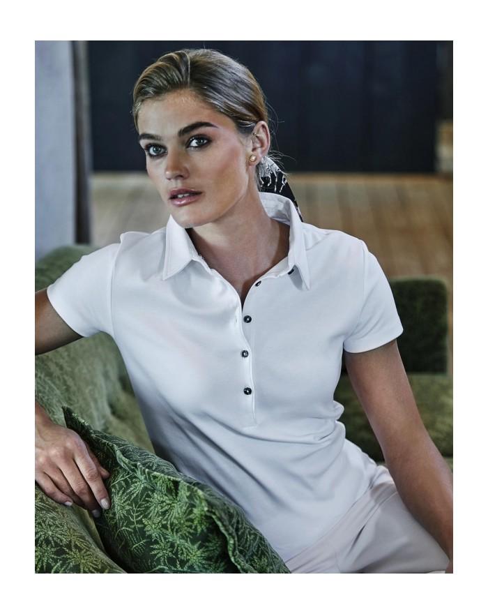Polo Femme Coton Pima - Polo Personnalisé avec marquage broderie, flocage ou impression. Grossiste vetements vierge à personn...