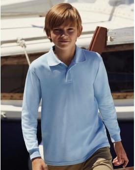 Polo Enfant 65/35 polycoton Manches Longues - Vêtements Enfant Personnalisés avec marquage broderie, flocage ou impression. G...
