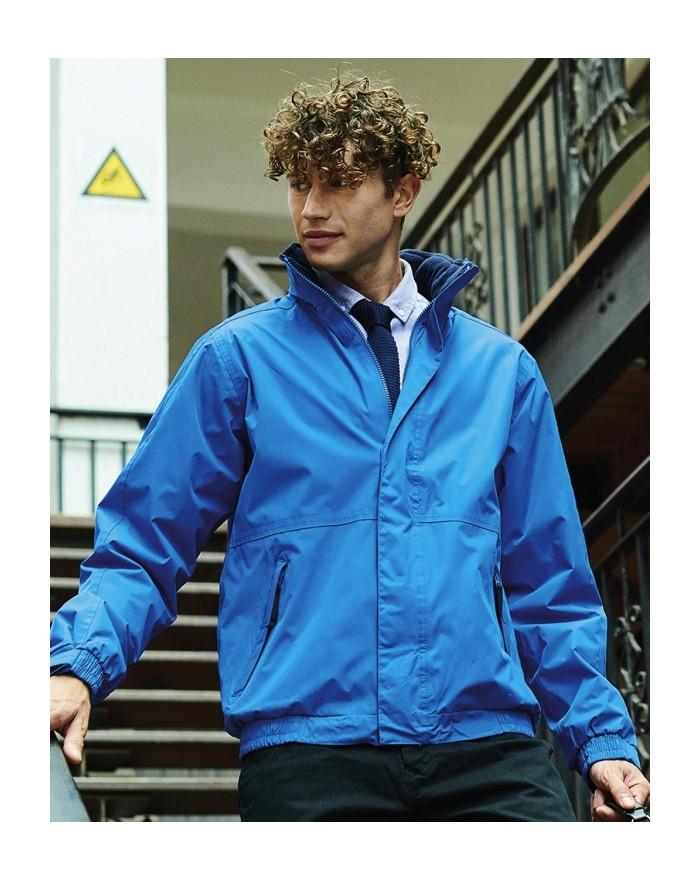 Veste Dover doublure polaire col et corps doublés, matériau waterproof et coupe-vent - Veste Personnalisée avec marquage brod...