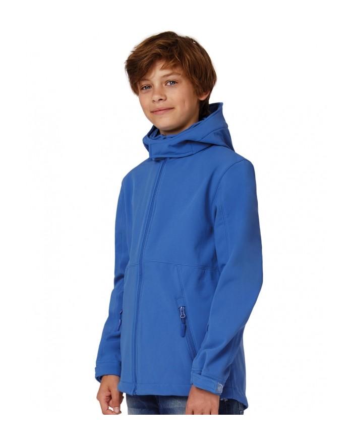 Softshell à Capuche Enfant membrane et doublure respirante - Vêtements Enfant Personnalisés avec marquage broderie, flocage o...