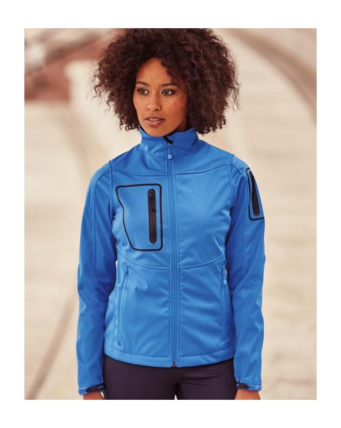 Veste Femme Sports Shell 5000 doublure polyester tricotée, membrane résistante à l'eau, respirant - Veste Softshell Personnal...