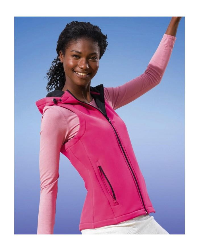 Bodywarmer Femme Arley Finition déperlante durable, Coupe-vent et séchage rapide - Veste Softshell Personnalisée avec marquag...