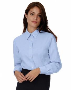 Chemise Oxford LSL/Femme - Chemise d'entreprise Personnalisée avec marquage broderie, flocage ou impression. Grossiste veteme...
