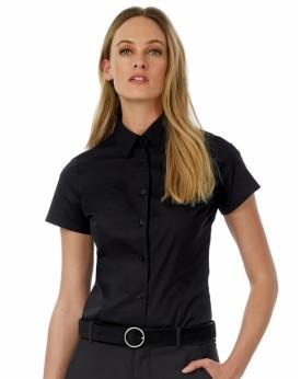 Chemise Femme Poplin Black Tie SSL - Chemise d'entreprise Personnalisée avec marquage broderie, flocage ou impression. Grossi...