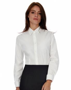 Chemise Femme Poplin Heritage LSL - Chemise d'entreprise Personnalisée avec marquage broderie, flocage ou impression. Grossis...