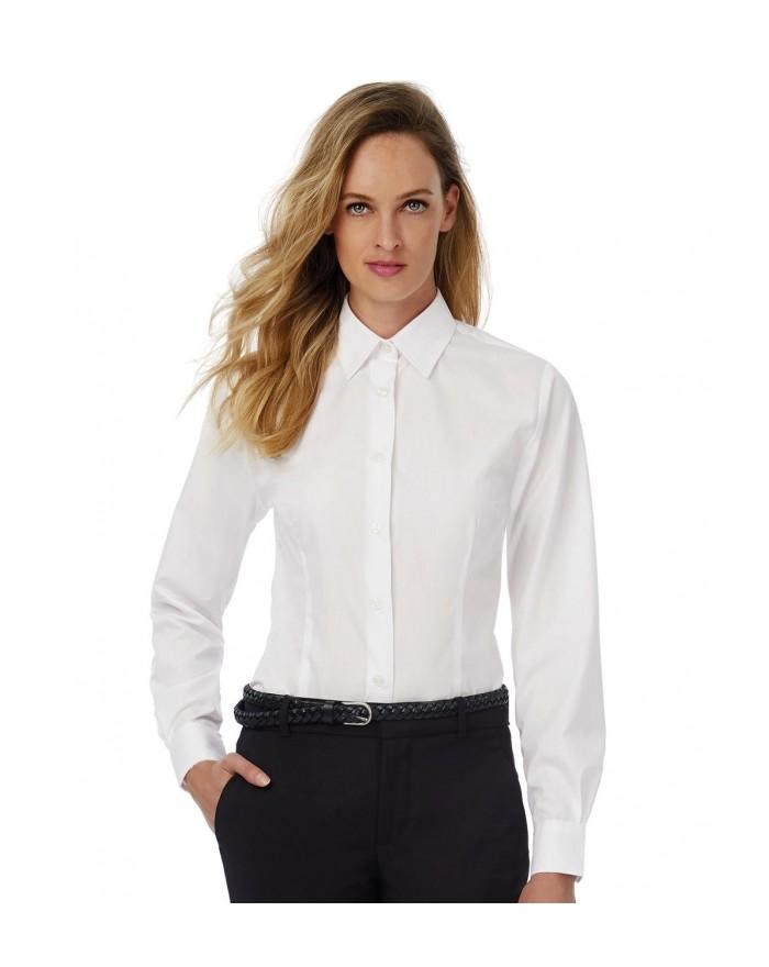 Chemise Smart LSL/Femme Poplin - Chemise d'entreprise Personnalisée avec marquage broderie, flocage ou impression. Grossiste ...
