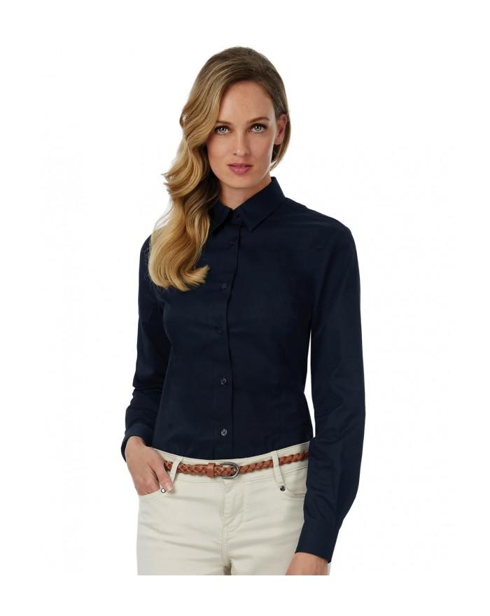 Chemise Sharp LSL/Femme Twill - Chemise d'entreprise Personnalisée avec marquage broderie, flocage ou impression. Grossiste v...