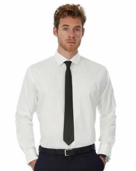 Chemise Homme Black Tie LSL - Chemise d'entreprise Personnalisée avec marquage broderie, flocage ou impression. Grossiste vet...