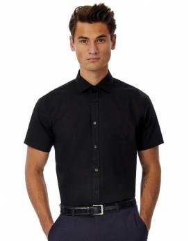 Chemise Homme Poplin Black Tie SSL - Chemise d'entreprise Personnalisée avec marquage broderie, flocage ou impression. Grossi...