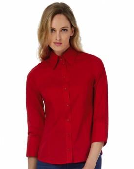 Milano/Femme Popelin Chemise 3/4 sleeves Chemises & vêtements d'entreprise