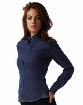 DNM Vision/Femme Denim Chemise LS Chemises & vêtements d'entreprise