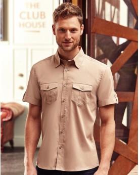 Homme Roll Manche Chemise Chemises & vêtements d'entreprise