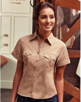 Femme Roll Manche Chemise Chemises & vêtements d'entreprise
