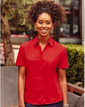 Chemise Femme Popelin 110 Manches courtes - Chemise d'entreprise Personnalisée avec marquage broderie, flocage ou impression....
