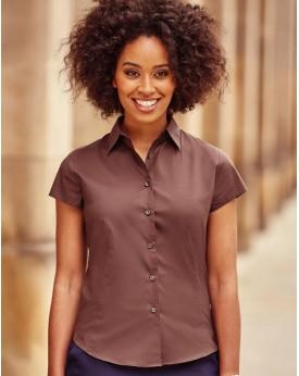 Chemise Femme Stretch Manches courtes - Chemise d'entreprise Personnalisée avec marquage broderie, flocage ou impression. Gro...