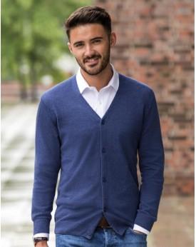 Homme Col-V En Tricot Cardigan Chemises & vêtements d'entreprise