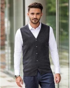 Homme Col-V Sans Manches En Tricot Cardigan Chemises & vêtements d'entreprise