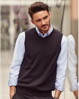 Adults` Col-V Sans Manches En Tricot Pullover Chemises & vêtements d'entreprise