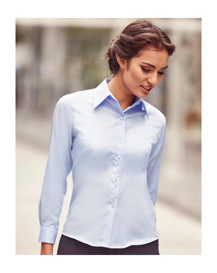 Chemise femme manches longues Ultimate sans repassage - Chemise d'entreprise Personnalisée avec marquage broderie, flocage ou...