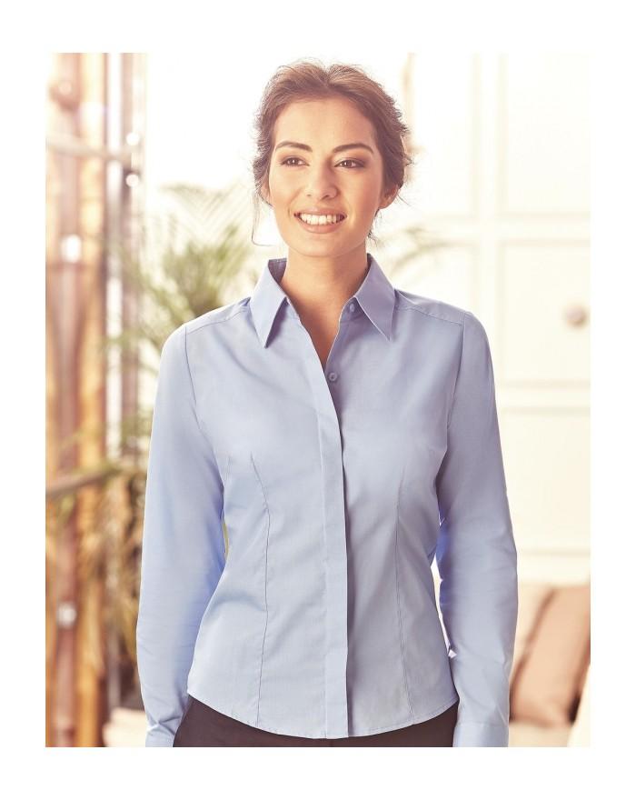 Chemise Femme Popelin 115 Manches Longues - Chemise d'entreprise Personnalisée avec marquage broderie, flocage ou impression....