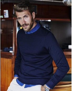 Homme Ras de Cou Sweater Chemises & vêtements d'entreprise