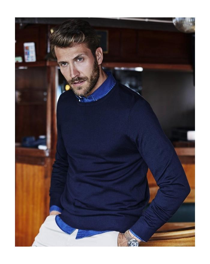 Sweater Homme Ras de Cou - Chemise d'entreprise Personnalisée avec marquage broderie, flocage ou impression. Grossiste veteme...