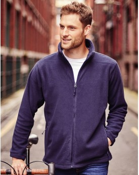 Polaire Homme Full Zip Outdoor 320 g/m² - Veste Polaire Personnalisée avec marquage broderie, flocage ou impression. Grossist...