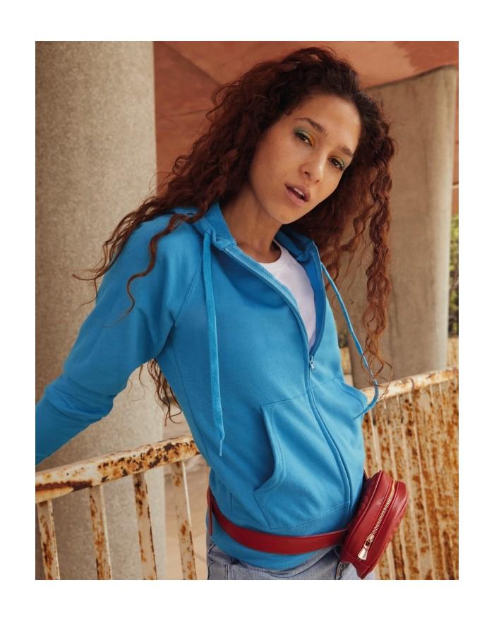 Sweat Veste Femme à Capuche Lightweight Zip - Sweat Personnalisé avec marquage broderie, flocage ou impression. Grossiste vet...
