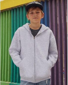 Sweat à Capuche Enfant Premium avec Zip - Vêtements Enfant Personnalisés avec marquage broderie, flocage ou impression. Gross...