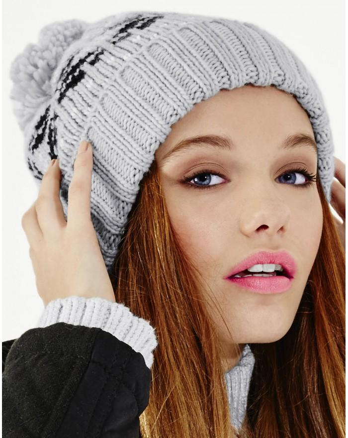 Bonnet Snowstar jacquard - Casquette Personnalisée avec marquage broderie, flocage ou impression. Grossiste vetements vierge ...