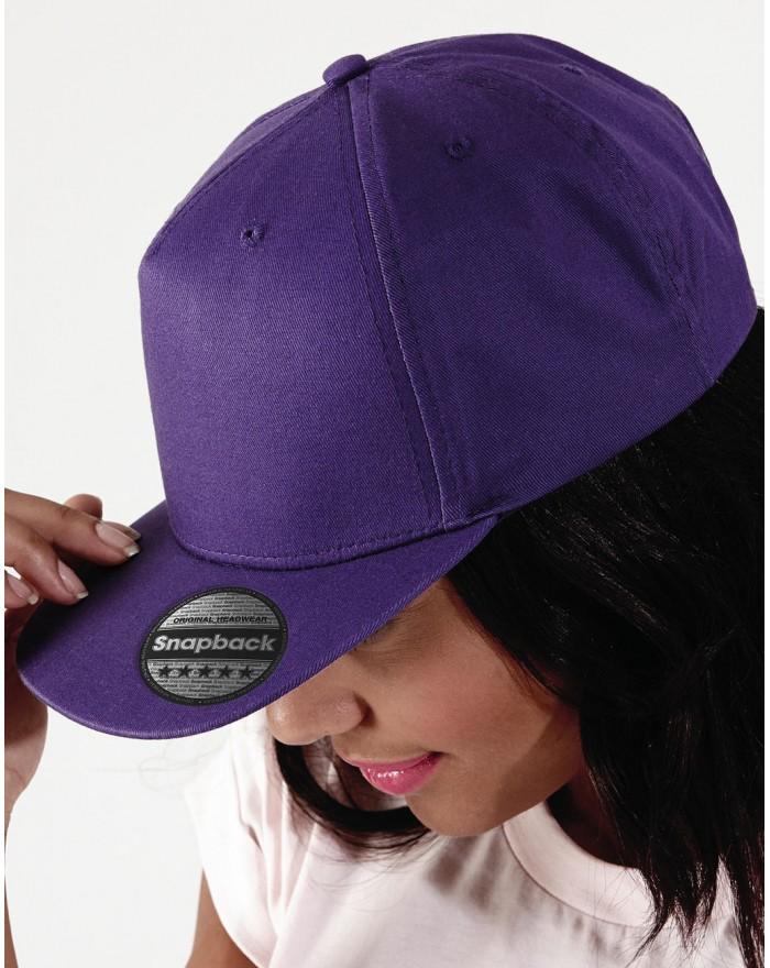 Casquette Rapper à 5 panneaux - Casquette Personnalisée avec marquage broderie, flocage ou impression. Grossiste vetements vi...