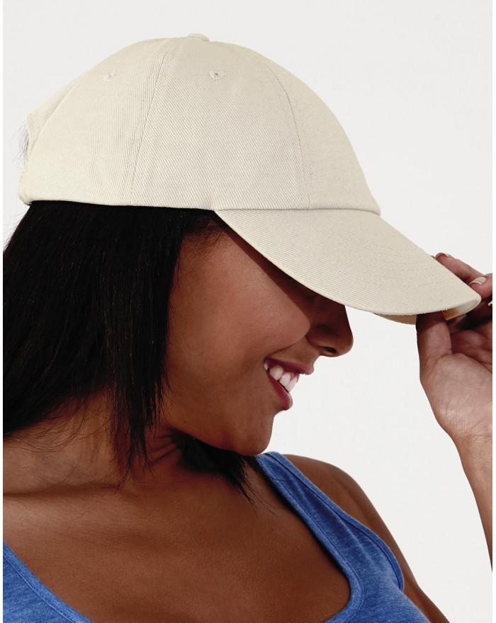 Casquette profil bas en coton Drill - Casquette Personnalisée avec marquage broderie, flocage ou impression. Grossiste veteme...