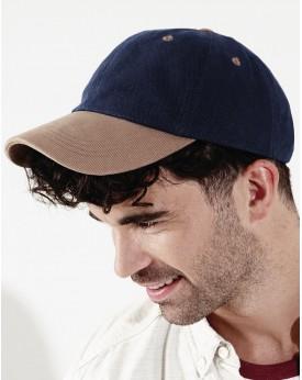 Casquette profil bas en coton brossé - Casquette Personnalisée avec marquage broderie, flocage ou impression. Grossiste vetem...