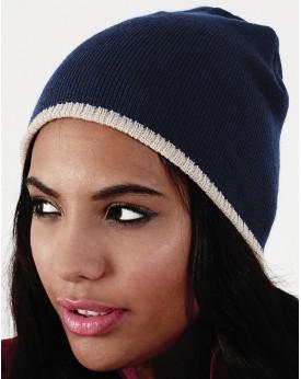Deux Tons Bonnet En Tricot Chapeau Casquettes & Accessoires