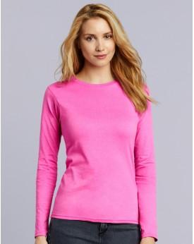 T-Shirt Femme Jersey semi-peigné LS - Tee-shirt Personnalisé avec marquage broderie, flocage ou impression. Grossiste vetemen...